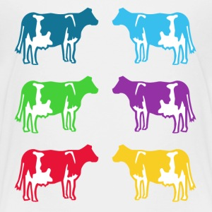 cow ko cows coloured  T-Shirts - Premium-T-shirt barn