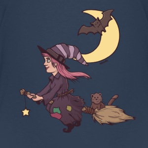 little witch on magic broom Shirts - Kids' Premium T-Shirt