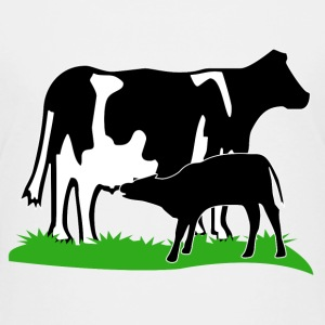 cow and calf black T-shirts - Børne premium T-shirt
