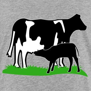 cow and calf black Skjorter - Premium T-skjorte for barn