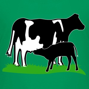 cow and calf black Shirts - Kids' Premium T-Shirt