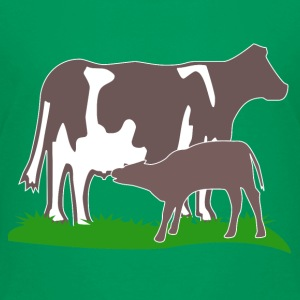 cow and calf brown Skjorter - Premium T-skjorte for barn
