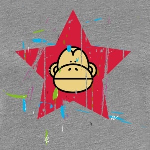 Monkey Red Star - Monkey Revolution T-shirts - Premium-T-shirt dam