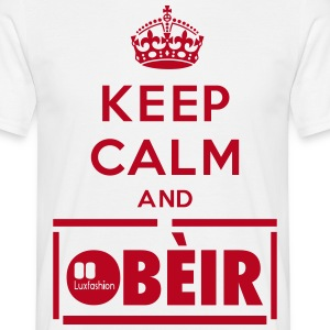 KEEP CALM AND OBÈIR  - Herre-T-shirt