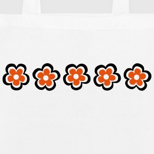 retro flower Bags & Backpacks - EarthPositive Tote Bag