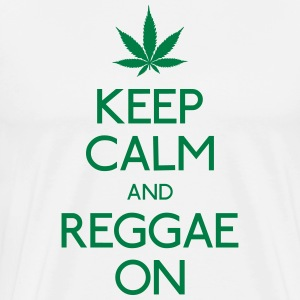 Keep Calm and reggae on houden van rust en reggae op T-shirts - Mannen Premium T-shirt