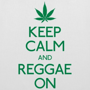 Keep Calm and reggae on mantener la calma y el reggae en Bolsas y mochilas - Bolsa de tela