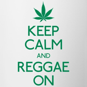 Keep Calm and reggae on mantener la calma y el reggae en Botellas y tazas - Taza