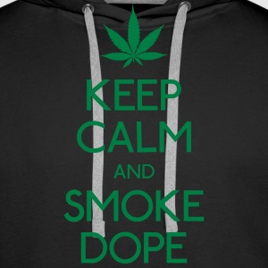 Keep Calm and smoke  Pullover & Hoodies - Männer Premium Hoodie