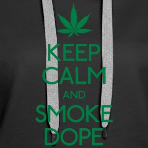 Keep Calm and smoke  Pullover & Hoodies - Frauen Premium Hoodie