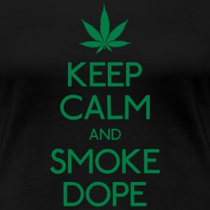 keep calm and smoke  houden kalm en rook  T-shirts - Vrouwen Premium T-shirt