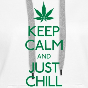 Keep Calm and just chill holde ro og bare chill Gensere - Premium hettegenser for kvinner