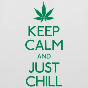 Keep Calm and just chill mantener la calma y relajarse Bolsas y mochilas - Bolsa de tela