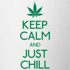Keep Calm and just chill mantener la calma y relajarse Botellas y tazas - Taza