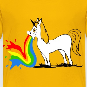 Puking Unicorn Skjorter - Premium T-skjorte for barn