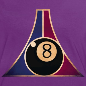 billard 8 retro T-Shirts - Frauen Kontrast-T-Shirt