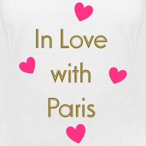 In Love With Paris T-Shirts - Frauen T-Shirt mit V-Ausschnitt