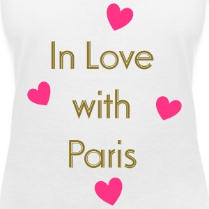 In Love With Paris T-shirts - Vrouwen T-shirt met V-hals