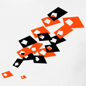 Geometric falling tiles - Men's T-Shirt