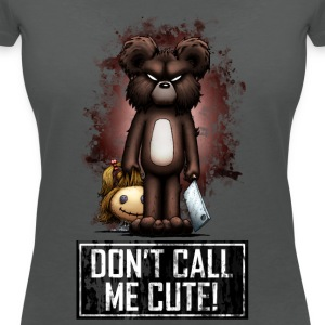 Teddy - Don't Call Me Cute (Color) T-shirts - T-shirt med v-ringning dam