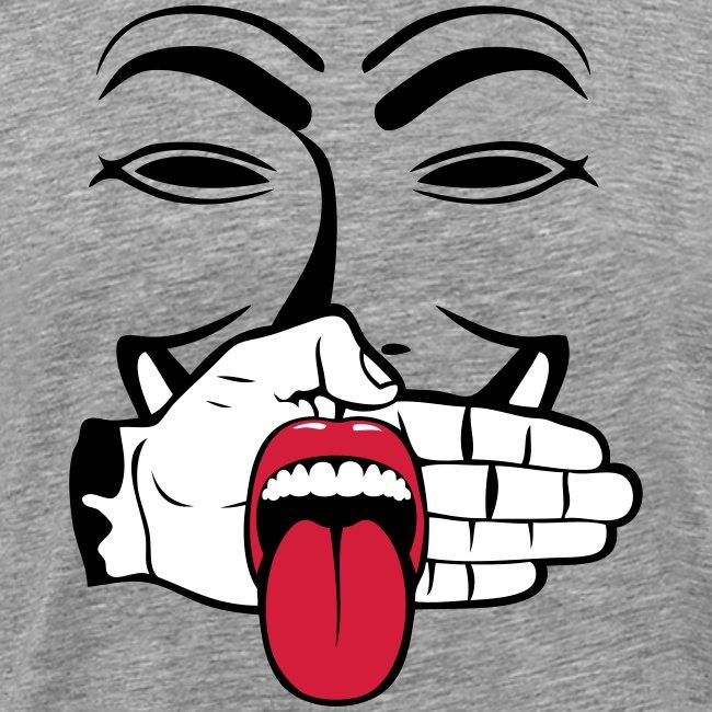 Anonymous tire la langue