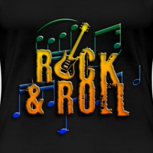 rock and roll e-guitar T-Shirts - Frauen Premium T-Shirt