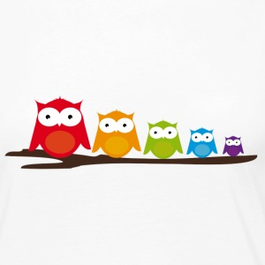 Five colorful owls Long Sleeve Shirts - Women's Premium Longsleeve Shirt
