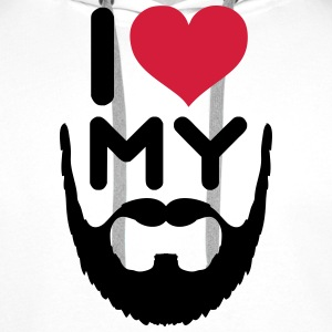I Love My Beard Hoodies & Sweatshirts - Men's Premium Hoodie