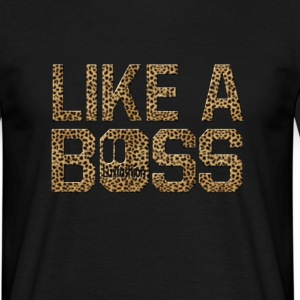 like a boss leopard print T-shirts - Herre-T-shirt