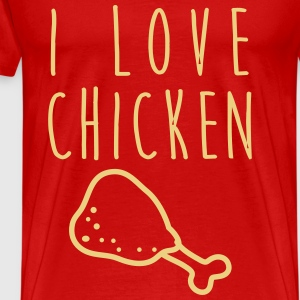I love chicken! - Männer Premium T-Shirt
