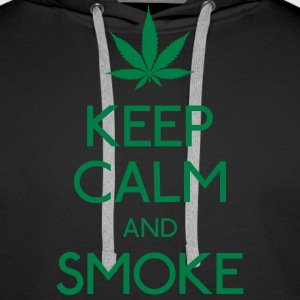 keep calm and smoke houd kalm en rook Sweaters - Mannen Premium hoodie
