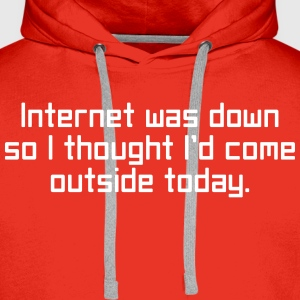 Internet Was Down Hoodies & Sweatshirts - Men's Premium Hoodie