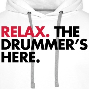 The Drummer's Here  Hoodies & Sweatshirts - Men's Premium Hoodie