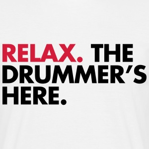 The Drummer's Here  T-shirts - Herre-T-shirt