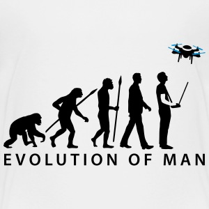 Evolution Modellflieger Drone 4 Propeller T-Shirts - Teenager Premium T-Shirt