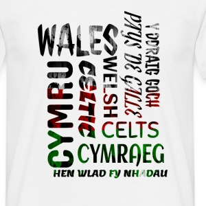 Wales , Welsh and proud nation - Men's T-Shirt