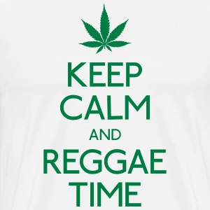 Keep Calm and Reggae houden van rust en reggae T-shirts - Mannen Premium T-shirt