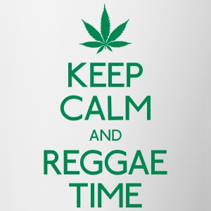 Keep Calm and Reggae houden van rust en reggae Flessen & bekers - Mok