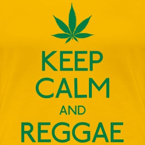 keep calm and Reggae houd rust en reggae T-shirts - Vrouwen Premium T-shirt