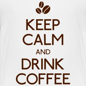keep calm drink coffee holde ro drikke kaffe Skjorter - Premium T-skjorte for barn