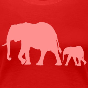 elephants T-shirts - Vrouwen Premium T-shirt