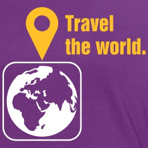 Travel the world T-shirts - Kontrast-T-shirt dam
