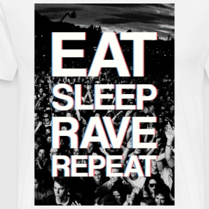 Eat, Sleep, Rave, Repeat T-shirts - Mannen Premium T-shirt