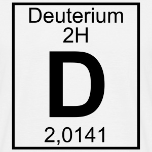 D (Deuterium) - Element 2H - pfll T-Shirts - Men's T-Shirt