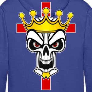 king and christian cross Hoodies & Sweatshirts - Men's Premium Hoodie