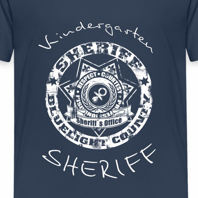 """Kindergarten Sheriff"" Kinder T-Shirt"