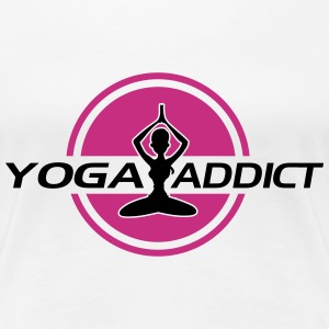 Yoga addict T-Shirts - Frauen Premium T-Shirt