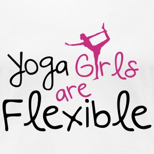 Yoga girls are flexible T-Shirts - Frauen Premium T-Shirt