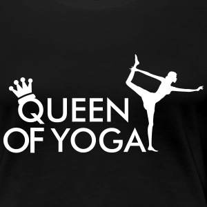 Queen of Yoga  T-shirts - Dame premium T-shirt
