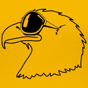 Eagle sunglasses cool bird funny T-Shirts - Women's Premium T-Shirt